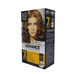 Tinte LLongueras Advance 7.34 rubio dorado cobrizo