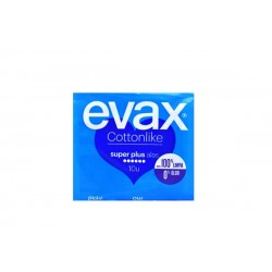Compresas Evax Cottonlike superplus con alas 10u