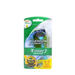 Wilkinson Xtreme 3 sensitive 4+2 unidades