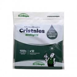 Bayeta microfibras cristales Ecolimpia