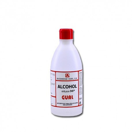 Alcohol Etílico 96º 500 ml Gual