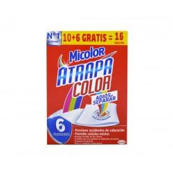 Micolor toallitas atrapa color 10+6 Gratis