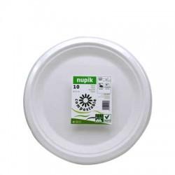 Nupik plato compostable 22 cm 10unidades