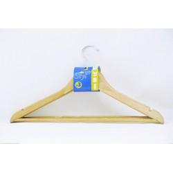 Percha madera barniz 3 unidades